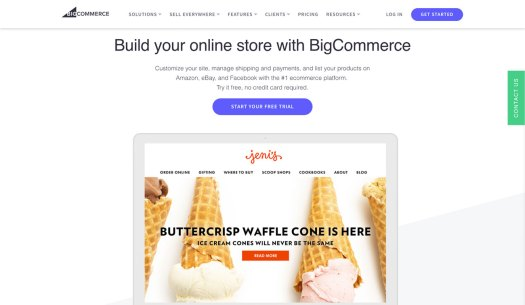 Choose a website builder: BigCommerce