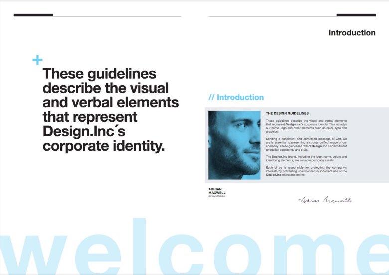 Best brochure templates: Brand manual