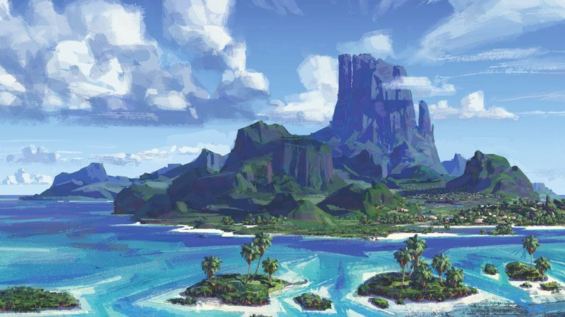 Moving Animation Wallpaper For Desktop The Secrets Behind Moana S Water Vfx Creative Bloq