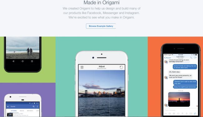 Facebook uses prototyping tool Origami Studio to build its own products
