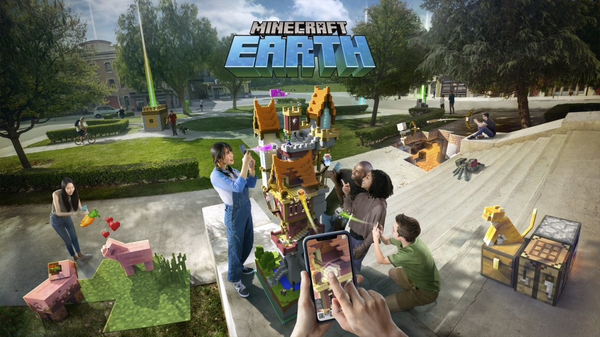 Minecraft Earth takes the original game and blends it with Pokemon Go 1