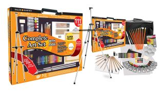 art easel: Daler Rowney 111-piece paint set