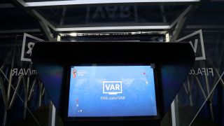 The video monitor used on-pitch by referees