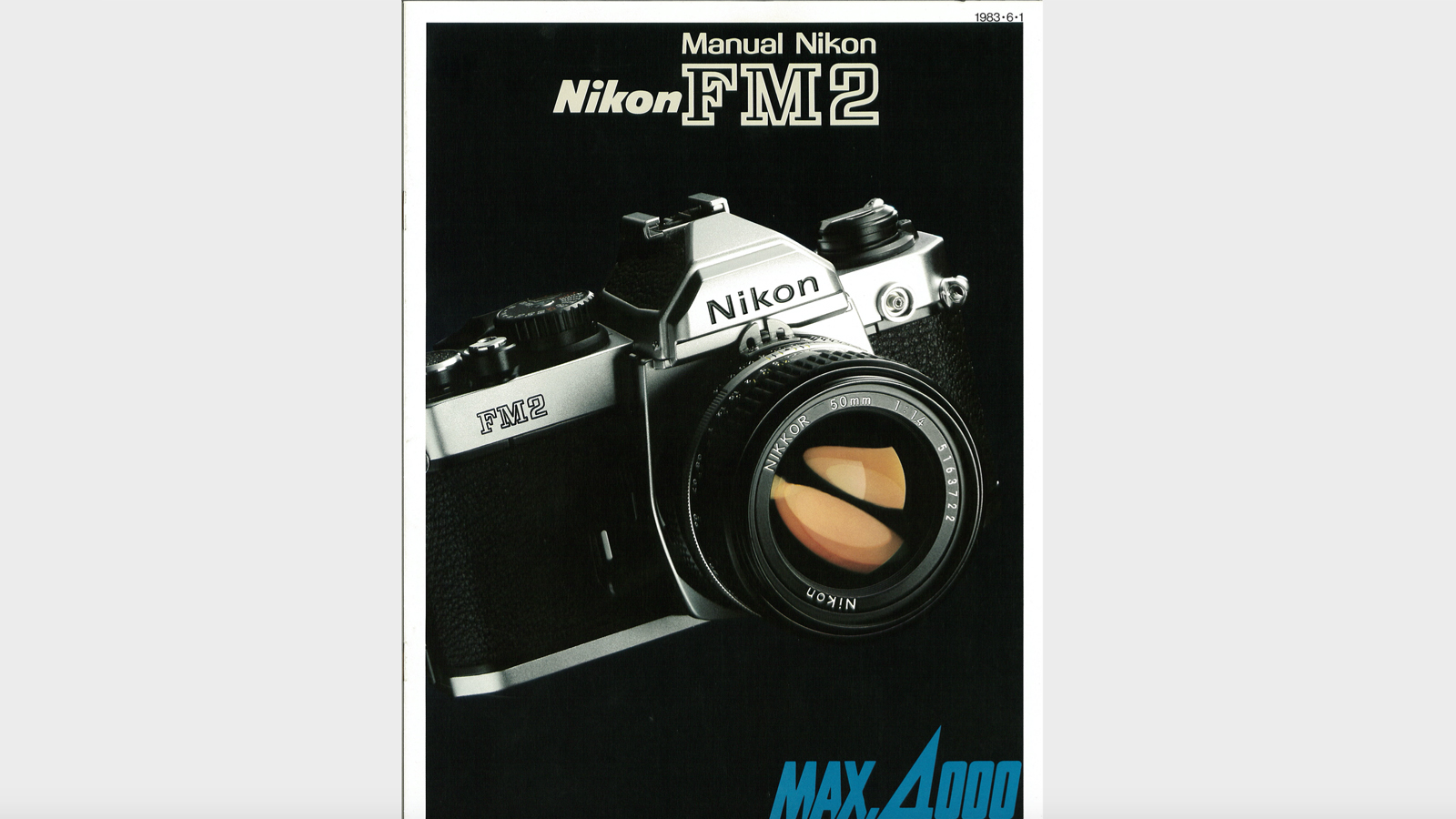 Photos of the Nikon FM2 camera in its manual
