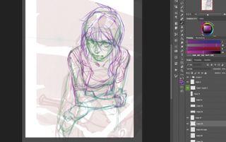 Recreate a manga classic: Refining the sketch