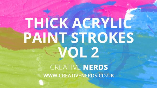 Thick acrylic paint strokes Photoshop brushes