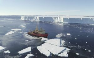 The Doomsday Glacier in Antarctica is discovered, near a turning point, a submarine is revealed