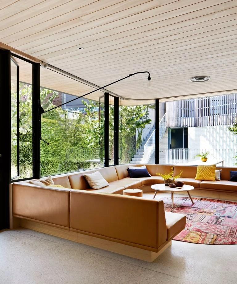 Bohemian living room ideas Seventies style