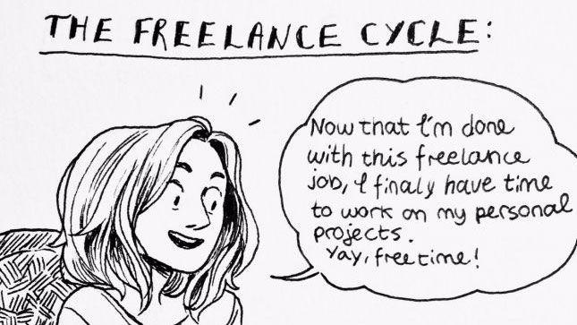 Funny comic reveals the dilemmas of freelance life