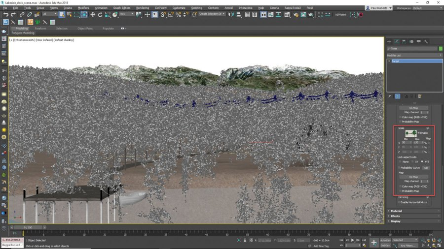 3ds Max Scatter trees