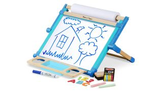 art easel: Melissa & Doug Deluxe Double-Sided Tabletop Easel