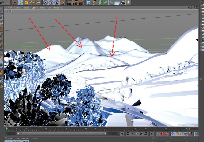 Level up your VR art: Add distant mountains