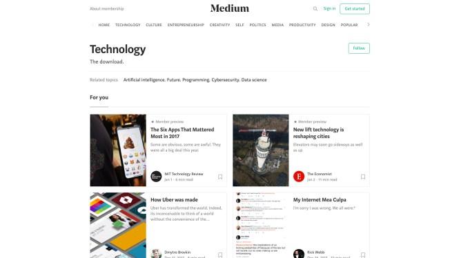 Medium technology blogs