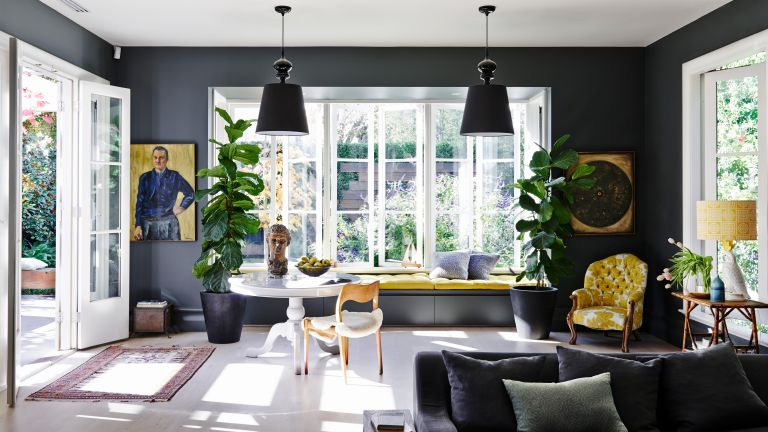 Black Living Room Ideas Inspiring Ways To Decorate With Black Homes Gardens