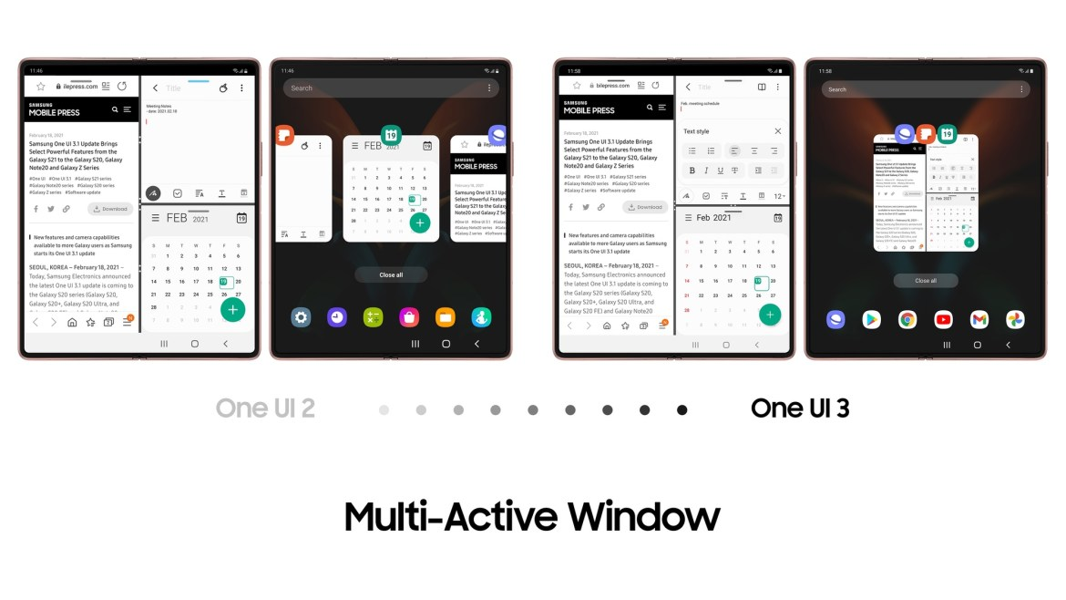 Galaxy Z Fold 2 Multi-Active Window