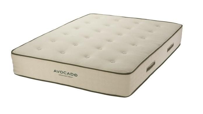 Saatva vs Avocado: The Avocado Green Mattress on a white background