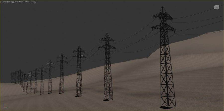 3ds Max - parametric models created using RailClone plugin
