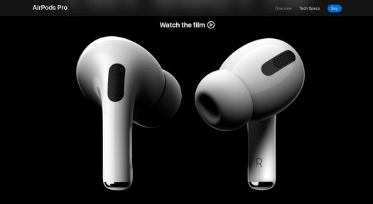 Two Apple airpods