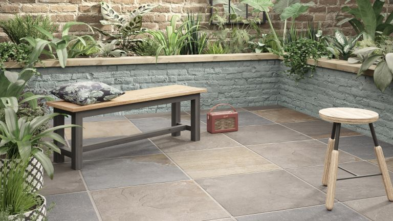 how to lay porcelain tiles outside