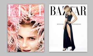 magazine covers: Elle and Bazaar