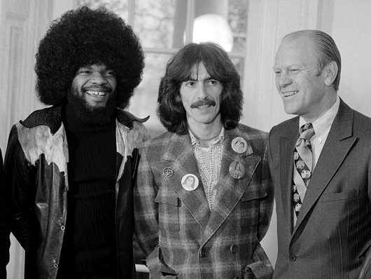 December 13, 1974 Billy Preston, George Harrison and President Gerald Ford