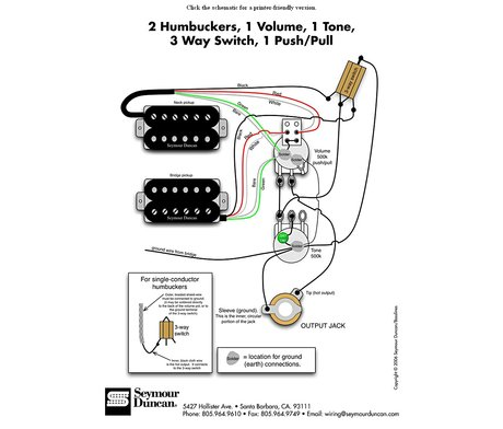 seymour duncan pickup wiring diagram  reduced voltage