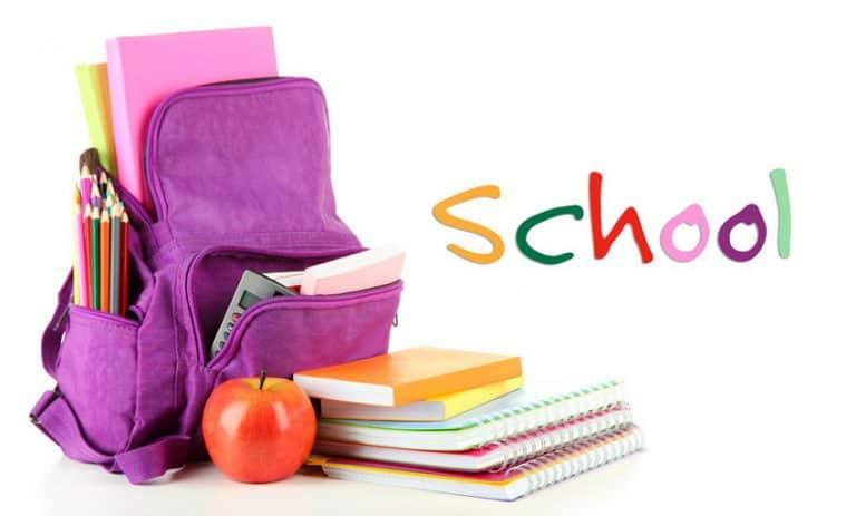 مطوية عن الحقيبة المدرسية موسوعة