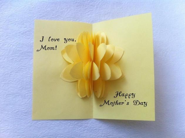 افكار كروت عيد الام للاطفال