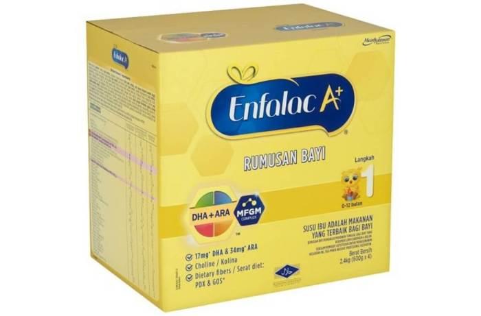 susu formula terbaik untuk bayi - Enfalac A+