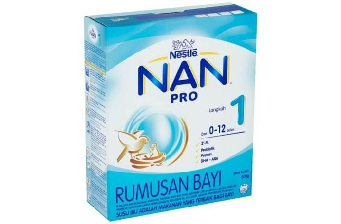 susu formula terbaik untuk bayi - Nestle NAN PRO 1