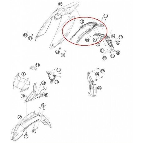 PORTAMATRICULAS KTM EXC 125/200/250/300/400/450/530 EXC-F