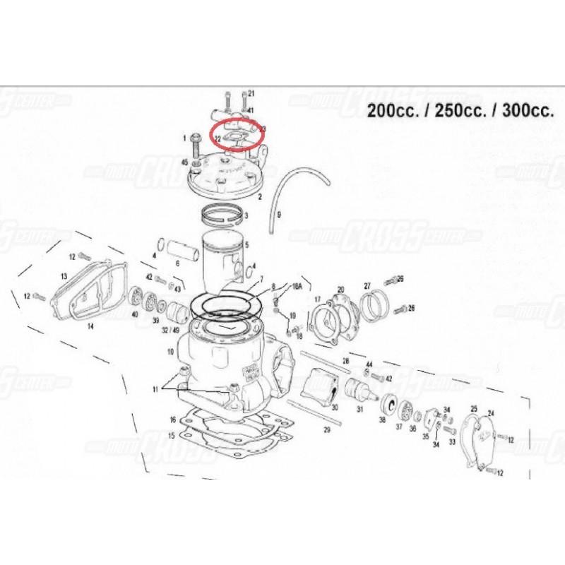 JUNTA TAPA TERMOSTATO GAS GAS (2003-2012) ME250344011