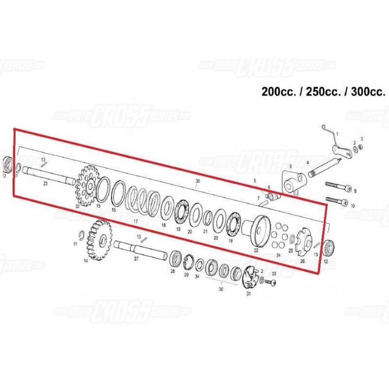 COMPLETE IMPELLER SET GAS GAS EC-200-250-300 ME250416005CT