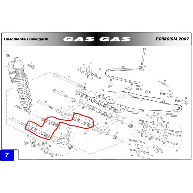 TIE ROD REPAIR KIT ORIGINAL GAS GAS EC 125/200/250/300