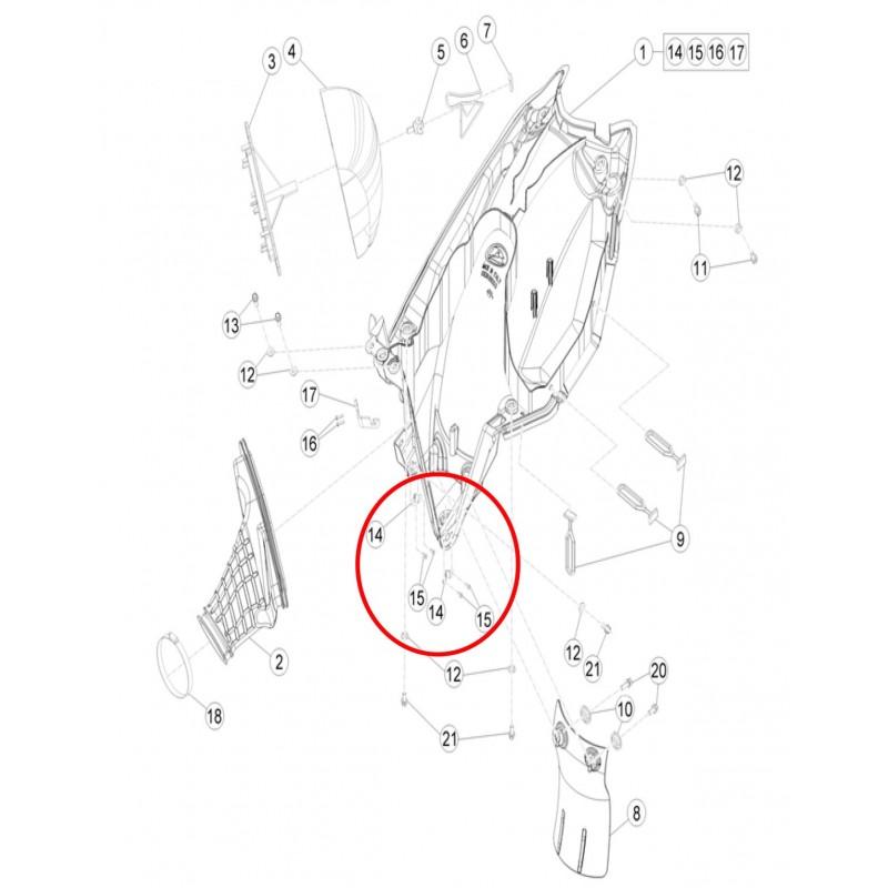 ORIGINAL PLASTIC KIT BETA RR 2T/4T (2013-2018) 20132009000