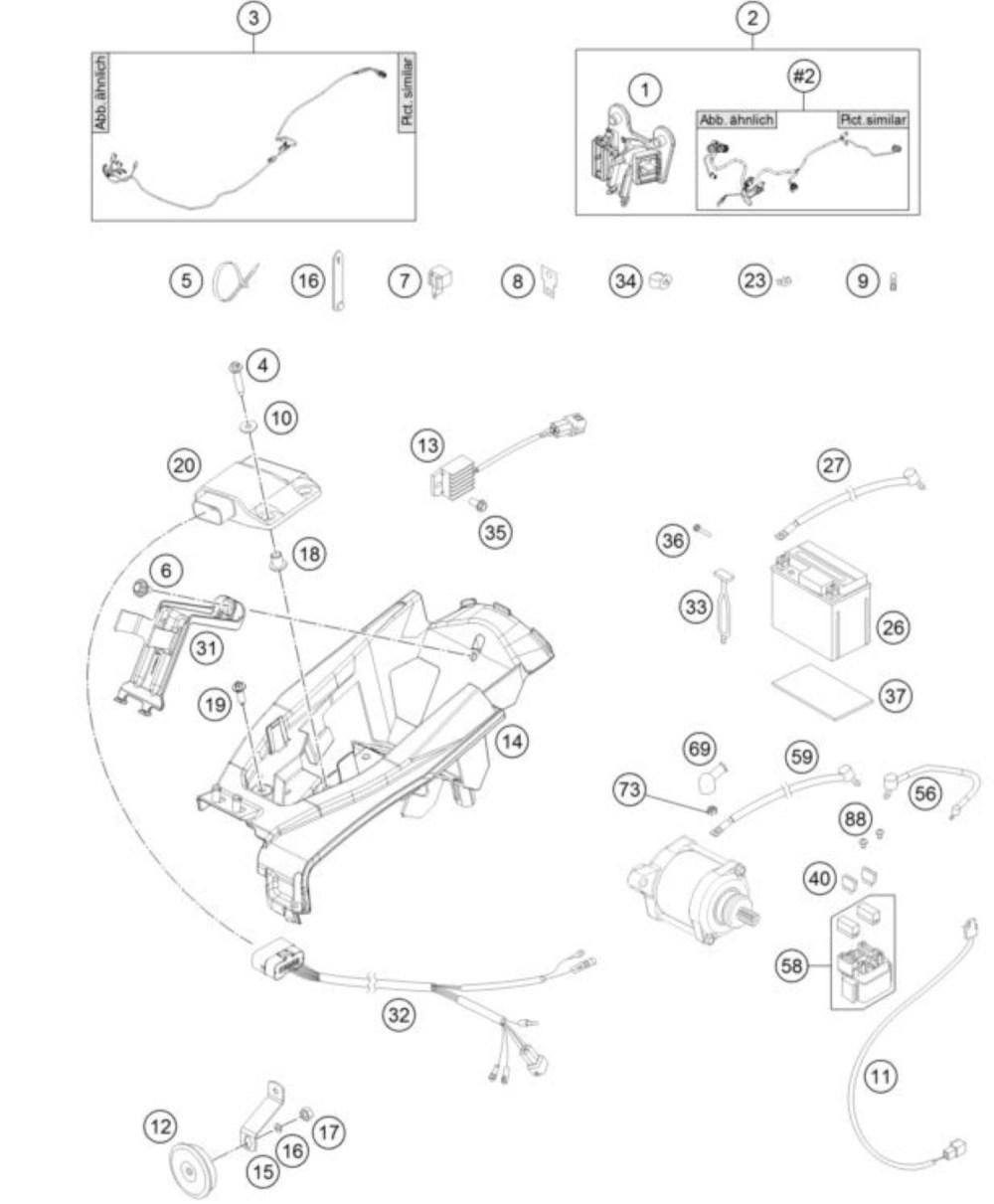 medium resolution of husqvarna wiring harnes