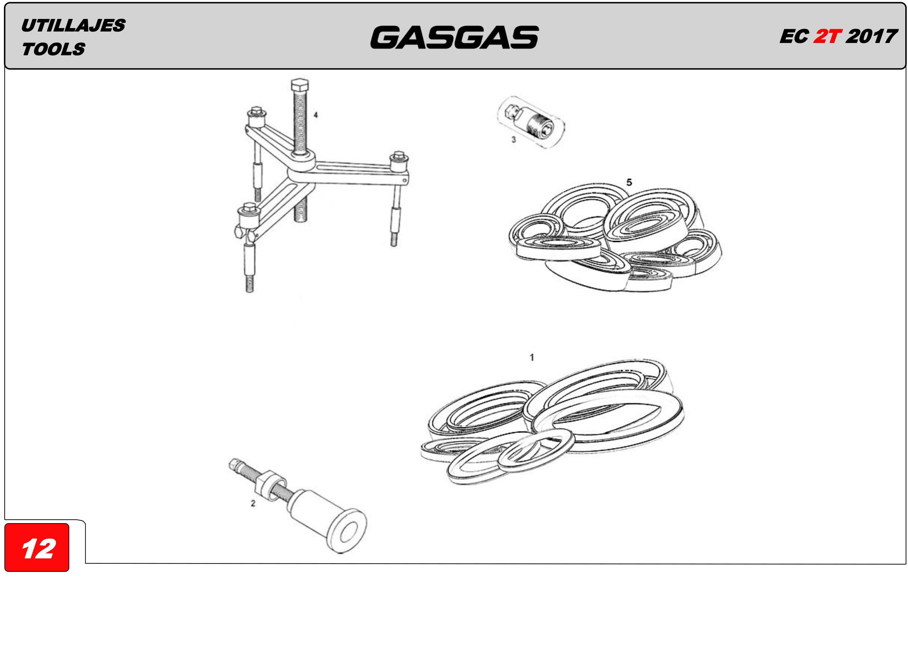 TOOLS GAS GAS EC250R 2017
