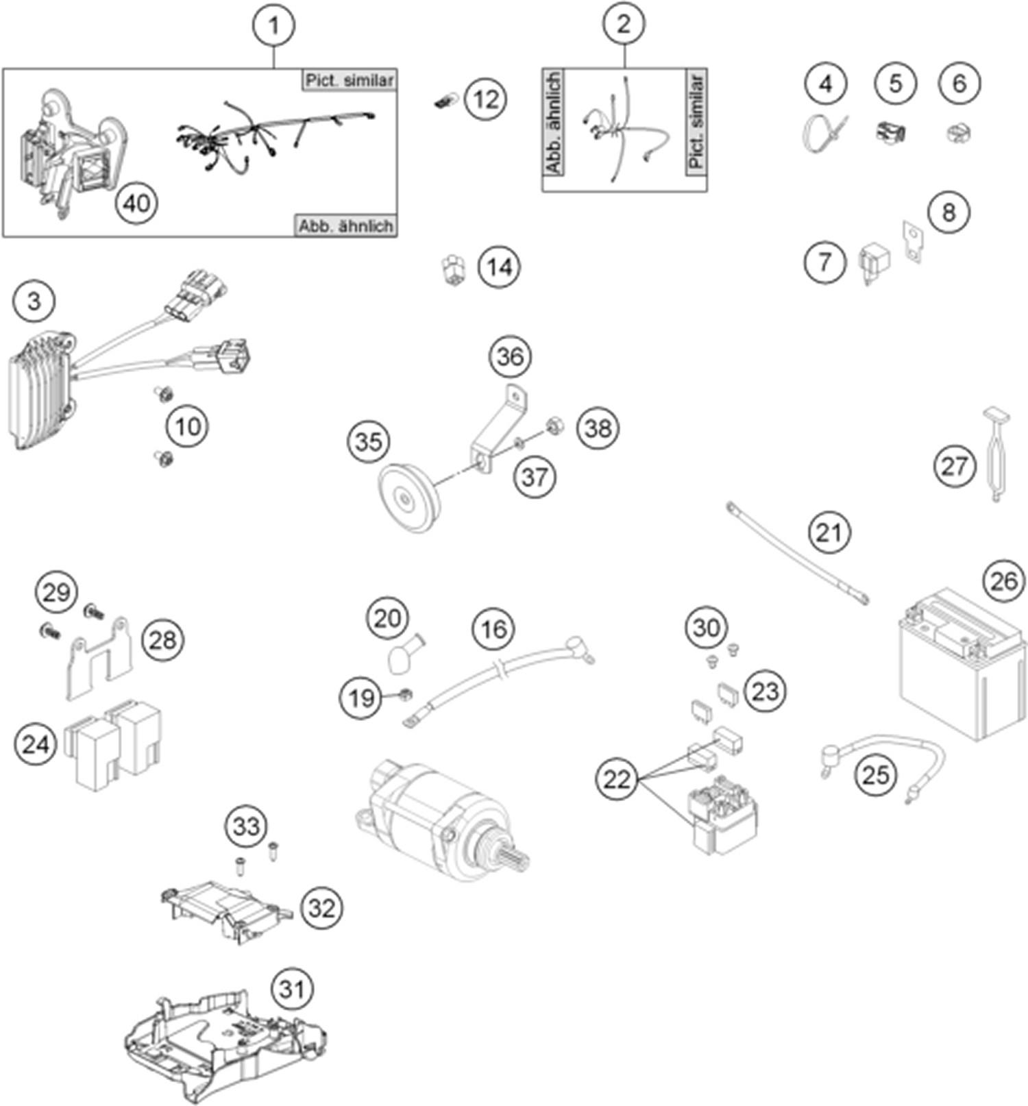 hight resolution of wiring harness husqvarna husqvarna 2014 diagrams husq