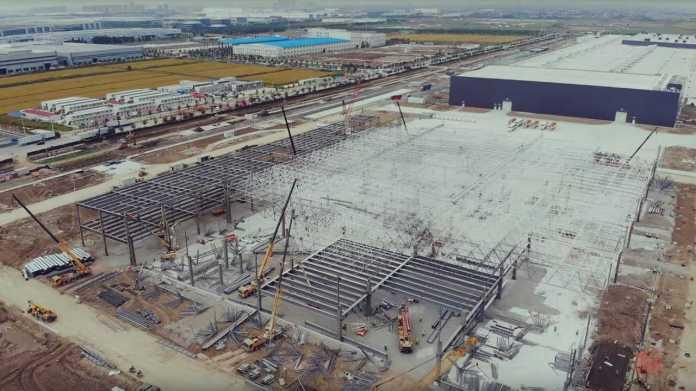 Tesla Gigafactory 3 - October 2019 (source: 乌瓦)