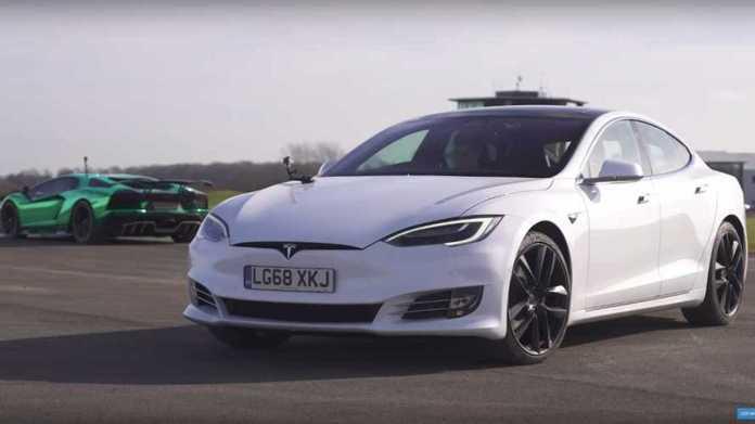 Redemption Time Aventador S Vs Tesla Model S P100d Drag Race