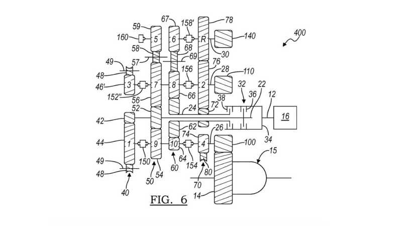 GM Eight-Speed Dual-Clutch Gearbox Patent