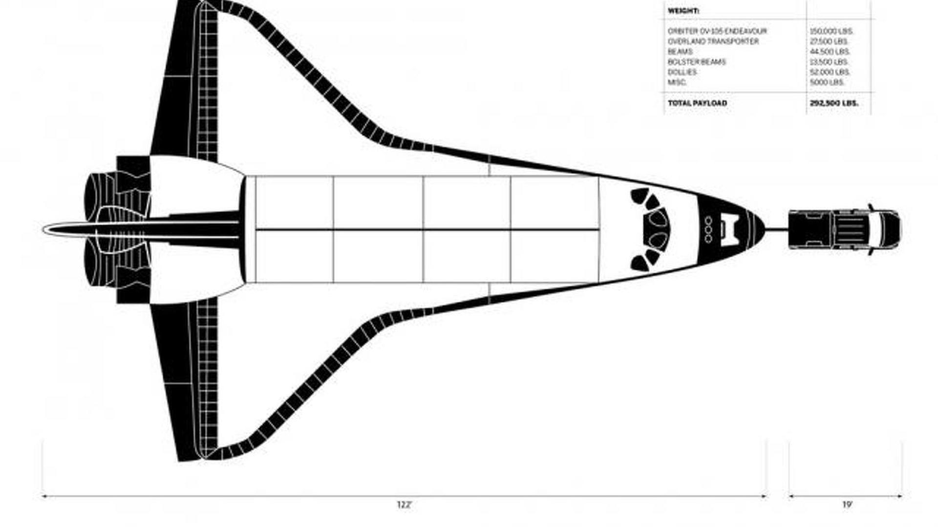 Un Toyota Thundra Arrastra Un Transbordador Espacial