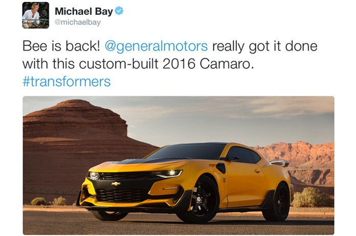 Bumblebee Returns To Transformers As An Aggressive 2016 Chevrolet Camaro Motor1 Com Photos