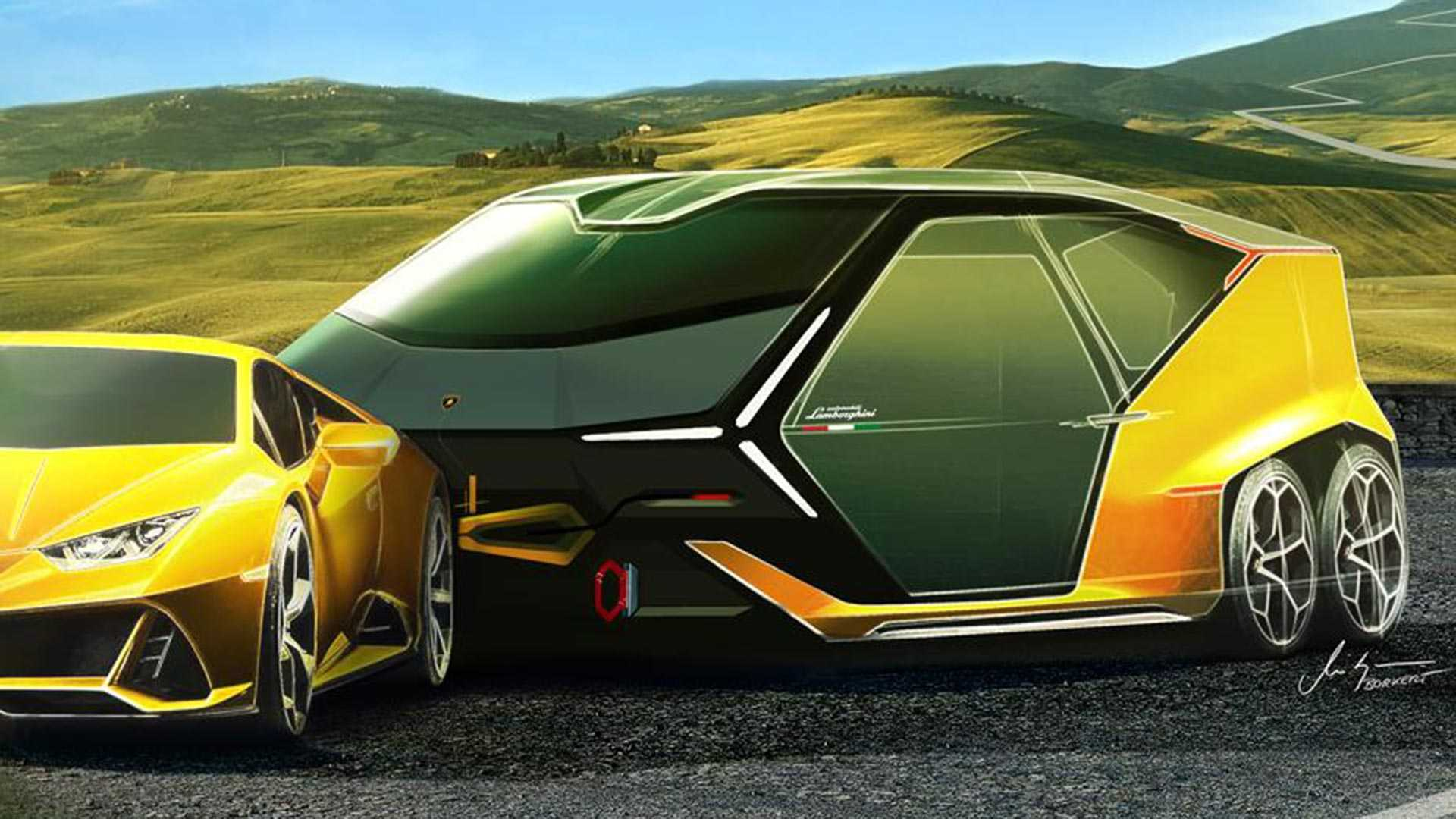 lamborghini laughingly launches camping