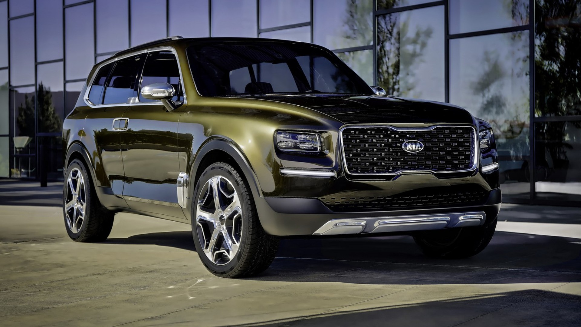 Suv With Captain Chairs Kia Telluride Big Suv Production Version To Look Like The Concept