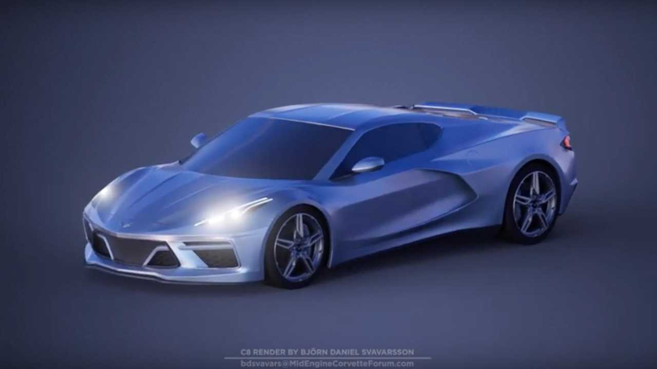C8 Corvette Gets Auto Show Treatment In Rotating Fan Rendering