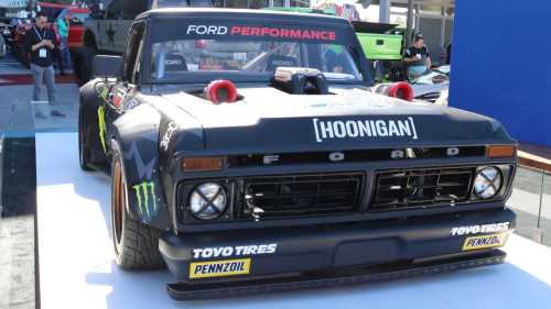small resolution of ken block s crazy awd f 150 hoonitruck revealed with ford gt power update