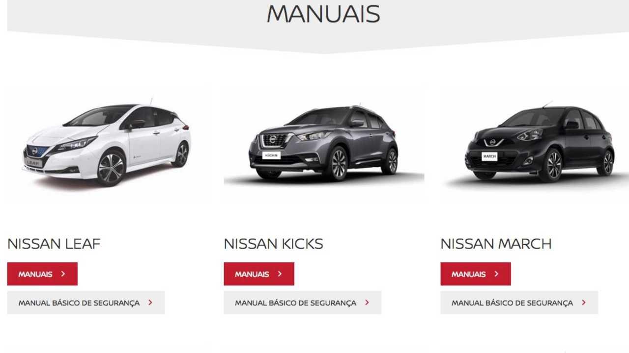 Nissan: manual do proprietário passa a ser digital em toda
