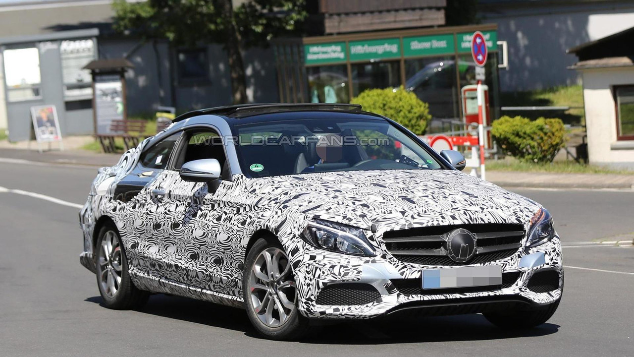 hight resolution of 2016 mercedes benz c class coupe spy photo