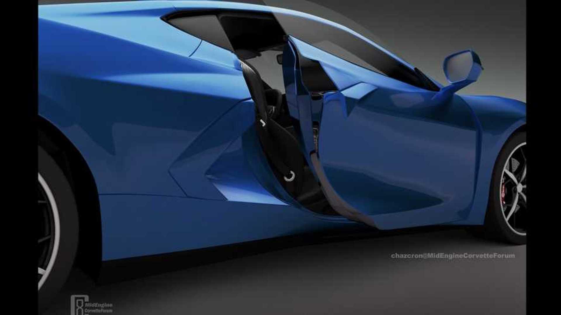 new c8 corvette door